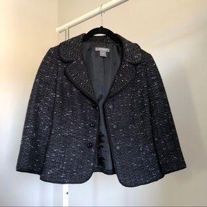 Ann Taylor Petites Black and White Tweed Blazer